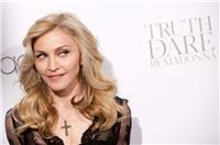 "Madonna arrives to the launch of her new fragrance, ""Truth or Dare by Madonna"" at Macy"