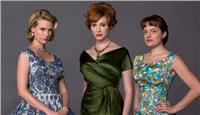 Η January Jones, η Christina Hendricks και η Elizabeth Moss στρο Mad Men.